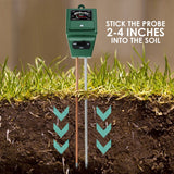 Sqm-256_Glove Soil Ph Moisture & Light Meter 3 Way Tester Kit (Silver Or Green With Free Gloves)