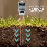 Sqm-256 Soil Ph Moisture & Light Meter 3 Way Tester Kit Gardening Acidity Probe Test Tool Plants