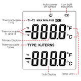 The-32 Digital K / J T E R S N Type Thermocouple Thermometer Dual-Channel Lcd Display -150~1767°C