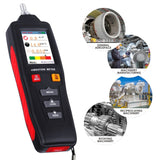 Vbt-281 Digital Vibration Meter Piezoelectric Vibrometer Gauge Colored Flip Display Acceleration