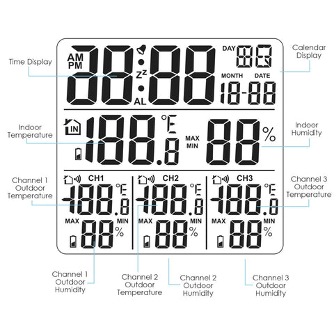 Digital Weather Station w/ Thermometer and Hygrometer 3