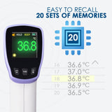 Ht20 Digital Infrared Forehead Thermometer Non-Contact Body Temperature Meter With Fever Alert /