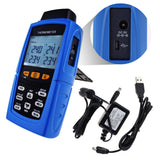 Tm-747D Digital 4-Channel K /j/ T / E/ R S/ N Type Thermocouple Thermometer Datalogger 16 800 Data
