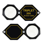 Gem-252 20X Magnification 20.5Mm Jeweler Gem Loupe Triplet Lens Magnifier Jewelry Optical Glass