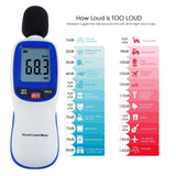 Slm-30 Professional Digital Sound Level Meter 30~130Dba A Weighting Decibel Noise Tester Lcd Display