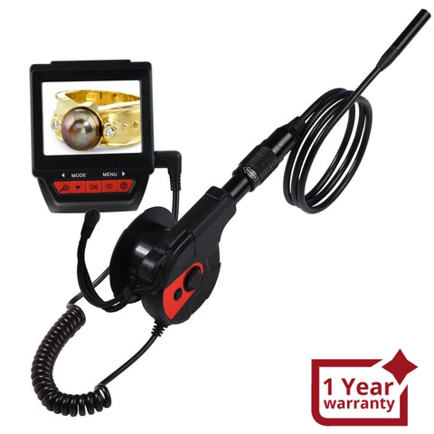 C0588G Watch Type Wearable Borescope endoscope Video inspection camera 8.5mm dia. + 1M Cable - Gain Express