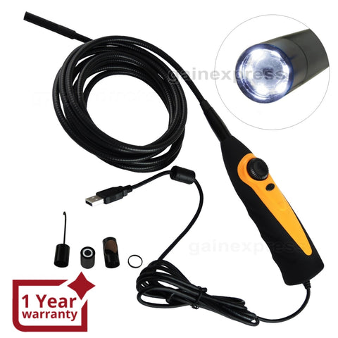 C0598AS_3M USB Video Inspection Borescope 3M Cable Endoscope Pipe Snake Scope 8.5mm HD Camera - Gain Express