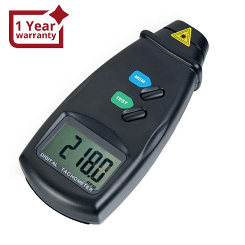DM-6234P Digital Laser Non-Contact Photo Tachometer RPM Measurer with LED Laser for HVAC Automotive Tool - Gain Express