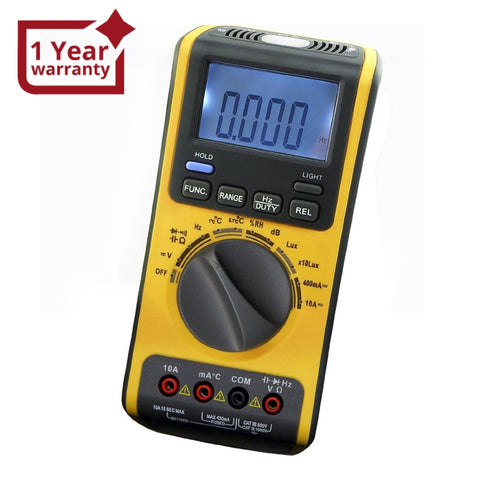 Gva-19 5-In-1 Multimeter With Lux Db °C Rh Ac Dc