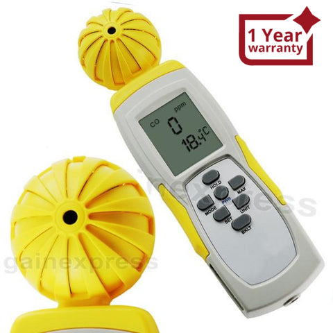 M0198108 Digital Carbon Monoxide (Co) Temperature Meter Made In Taiwan Air Quality Meters
