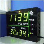 M0198158 Wallmount Smart Led Display Voc Carbon Dioxide (Co2) Temperature Rh Monitor Made In Taiwan