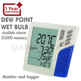 M0198585 Wallmount / Desktop Temperature Humidity Rh Datalogger Monitor Data Loggers