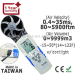 M0198652 Handheld Usb Thermo-Hygro-Anemometer With Integrated Vane Hvac Made In Taiwan Anemometer