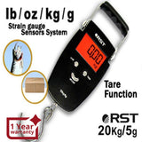 RST-08081 Digital Weight Luggage Fishing Hanging Scale 20kg lb oz