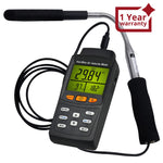 Tm-4001 Hot Wire Air Velocity Meter Digital Anemometer Flow Temperature Humidity Tester