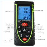 X01Rz40 40M Meter ±2Mm Accuracy Laser Distance W/ Bubble Spirit Level