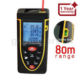 X01Rz80 80M Meter ±2Mm Accuracy Laser Distance W/ Bubble Spirit Level