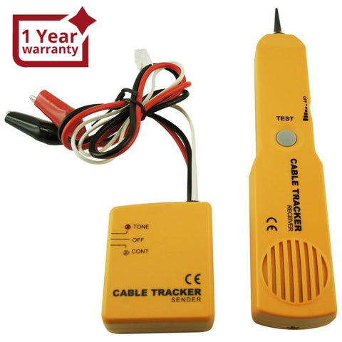 E04-026 Telephone Line Cable Tracker Wire Tracer Tester Sender And Reciever Kit Tone Continuity