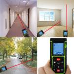 X01Rz-E40 Digital 40M Laser Distance Area Volume Pythagorean W/ Spirit Level Range Finder Tool Meter
