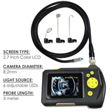 End-23_8.2Mm_3M Waterproof Endoscope Digital Inspection Camera Borescope 8.2Mm 2.7 Inch Screen