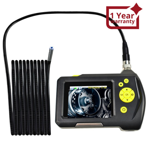 End-23_8.2Mm_5M Waterproof Endoscope Digital Inspection Camera Borescope 8.2Mm 2.7 Inch Screen