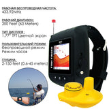 Ff-518Ru Russian Version Wrist Watch Wireless 45M Fish Finder Clock Mode Colored Lcd Display Fish