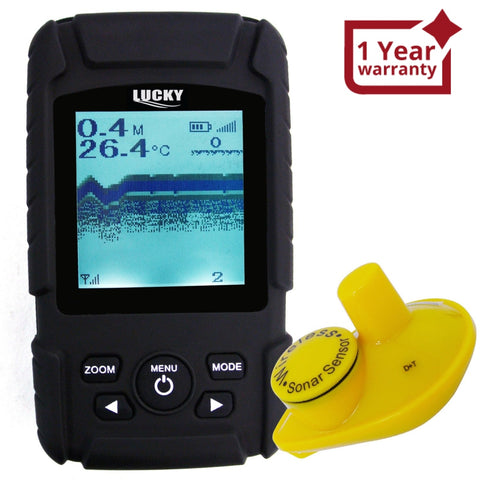 Ff-718Li-W Rechargeable Wireless 45M Depth Fish Finder W/ 180M Operation Range Sensor