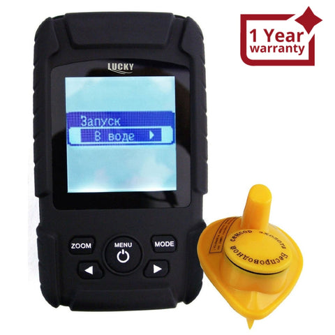 Ff-718Liw_Ru Russian Version Rechargeable Wireless 40M Depth Fish Finder 180M Range Sensor