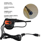 C0588AS USB HD 8.5mm Camera Video Inspection 6 LED Light Borescope Tape Style Endoscope - Gain Express