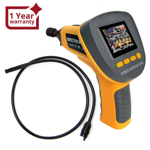 "C0599F_1M Handheld Industrial Endoscope w/ 2.4"" LCD & 360° Rotation Borescope Visual Inspection Camera - Gain Express"