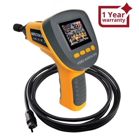 C0599F_4M Handheld 2.4  Industrial Visual Inspection Endoscope up to 360°Rotation Borescope + 4m Cable