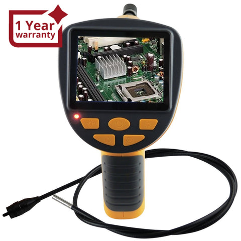 "C0599H-5530L1 Industrial Endoscope 3.5"" LCD Video Inspection 5.5mm Camera Borescope 1M Cable - Gain Express"