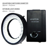 Gx-380 48 Led Camera Microscope Ring Light (White Bulbs 74Mm Max Dia) / Lights Illuminator