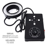 Hs-72 Ring Light 62Mm 72 Led Microscope Camera Illuminator Flash Lens / Lights
