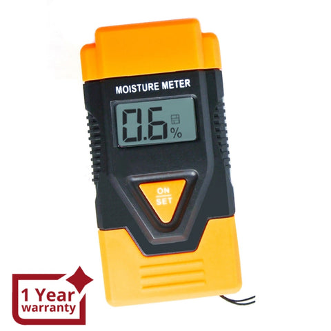 DM1100 3-in-1 Digital 2 Pin Wood Building Hard Material Moisture Meter Temperature °C / °F Measure - Gain Express