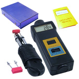 Mc-7806 Digital Moisture Meter & Thermometer Wood Cotton Paper
