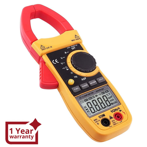 CM213 Digital AC Current Clamp Meter Multimeter Capacitance Ohm Auto / Manual Range Professional Tester - Gain Express