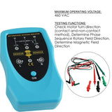 E04-035 Phase Sequence And Motor Rotation Conveyors Pump Tester Meter Tool 120~460Vac