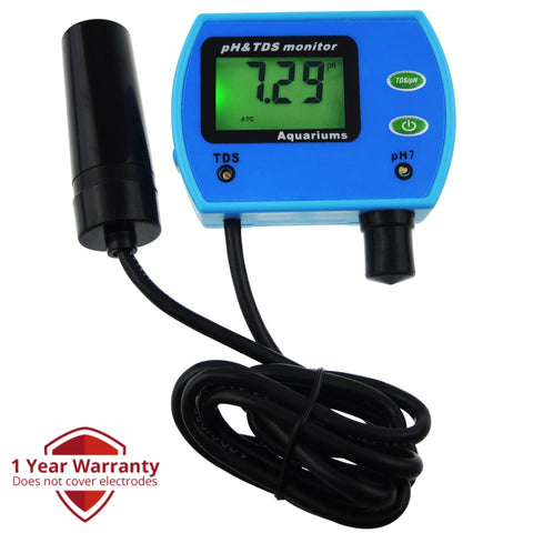 Phm-003 2-In-1 Ph Tds Water Quality Tester Replaceable Electrode Aquarium Pool Hydroponic Tool