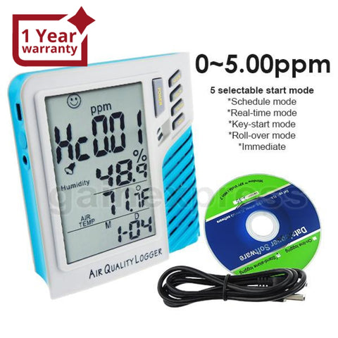 Hcho-D001 Desktop Digital Air Quality Formaldehyde Hcho Thermo-Hygrometer 0~5Ppm Datalogger Iaq