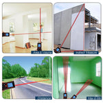 X01Rz-E60 Digital 60 Meter Laser Distance Area Volume Pythagorean W/ Spirit Level Industrial Use