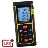 X01RZ-E80 Digital 80 Meter Laser Distance Area Volume Pythagorean Range Finder w/ Spirit Level
