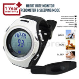 Hrm-002 Heart Rate Monitor 40~240Bpm Pedometer Calorie Counter Sports Fitness Watch Walk Run Timer