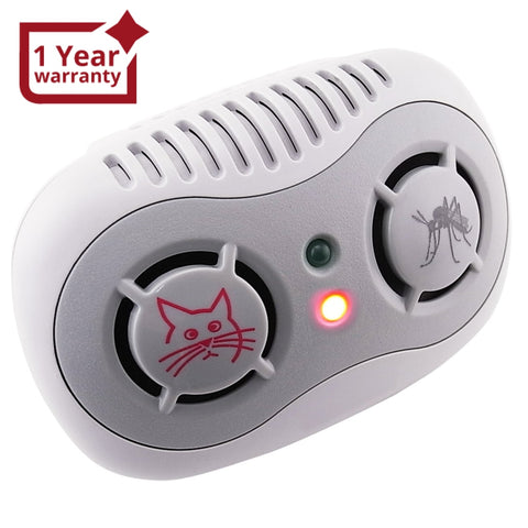 AR-166 2-in-1 Electronic Ultrasonic Repeller Anti Mouse & Mosquito 50/ 60Hz, Rats Control, Plug-in Non-Toxic Repellent, Pet & Kids Safe - Gain Express