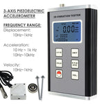 Vm-6380 Digital 3-Axis Vibration Meter Piezoelectric Sensor Displacement Velocity Acceleration