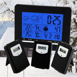 S08S3318Bl_3S Indoor/outdoor Temperature Digital Wireless Weather Station Rcc Dcf + 3 Sensors