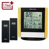 Ws-103_2S Weather Station 2 Wireless Sensors Wwvb Dcf Radio Controlled Clock Thermometer Alarm