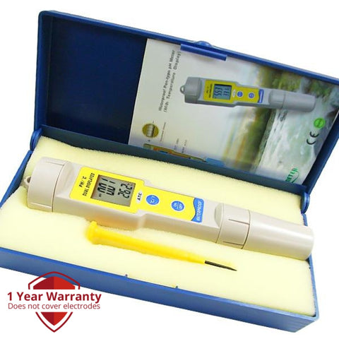 Ph-035 Waterproof Digital Ph And Temperature Meter °C / °F 0.00~14.00 Range With 2-Liner Display