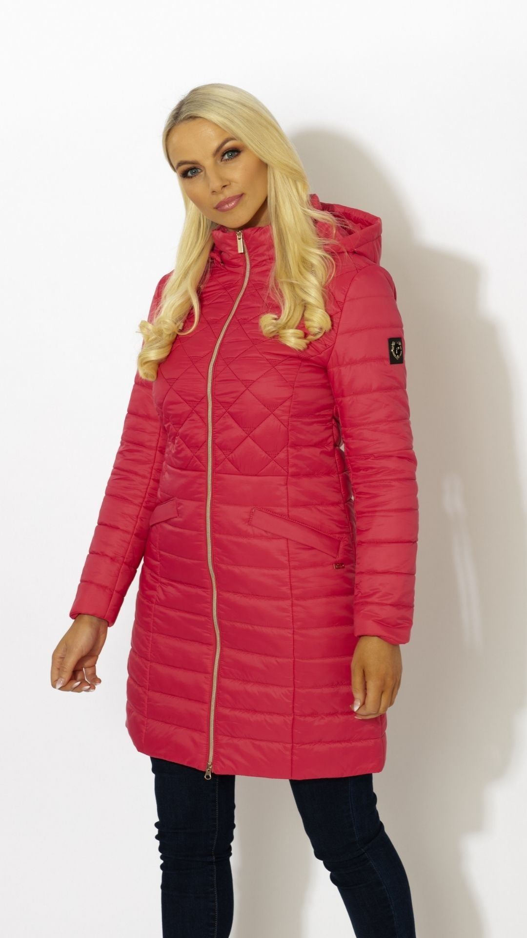 long hooded quilted jacket loungewear coat paco