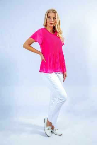 summer outfit ladies chiffon pleated top summer 2021